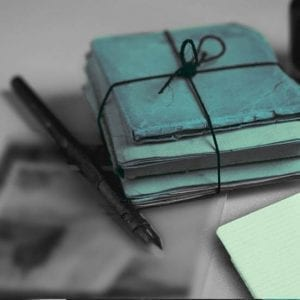 Altes Papier und Feder