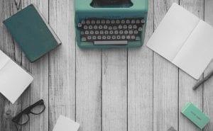 Schreibmaschine von oben