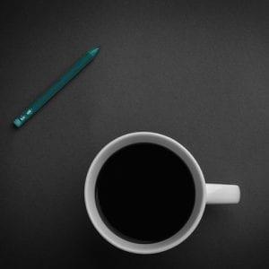 kaffeetasse, bleistift