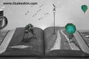 Buch mit figuren, 3d