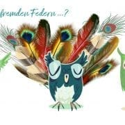 mit fremden federn geschmückte vögel