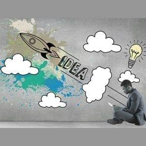 mann mit rakete, ideen