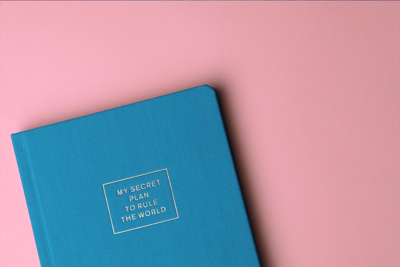 Buch auf hellem Hintergrund