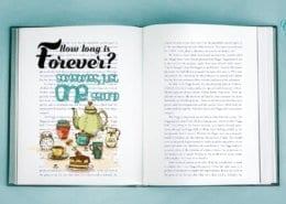 Buch mit Zitat Alice im Wunderland