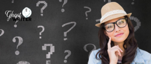 Ghostwriter_FAQ-Frau mit vielen Fragezeichen